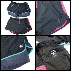 2 pairs of Umbro athletic shorts, both size L, bot